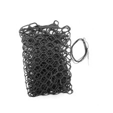 """Fishpond Nomad Replacement Rubber Net Kit - 15"""" Black (Hand, Emerger, Mid Length, Guide Net)"""