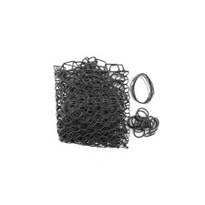 """Fishpond Nomad Replacement Rubber Net Kit - 19"""" Black Extra Deep (Boat and El Jefe Nets)"""