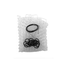 """Fishpond Nomad Replacement Rubber Net Kit - 19"""" Clear (Boat and El Jefe Nets)"""