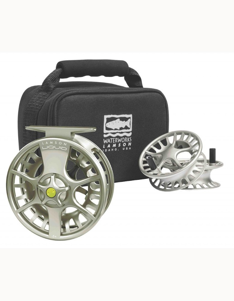 Waterworks Lamson Liquid Fly Reel 3-Pack - Free Fly Line and Backing